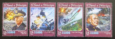 Svatý Tomáš 2016 Útok na Pearl Harbor Mi# 6566-69 Kat 12€ 1548