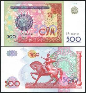 500 SOM 1999 UZBEKISTAN  UNC p81