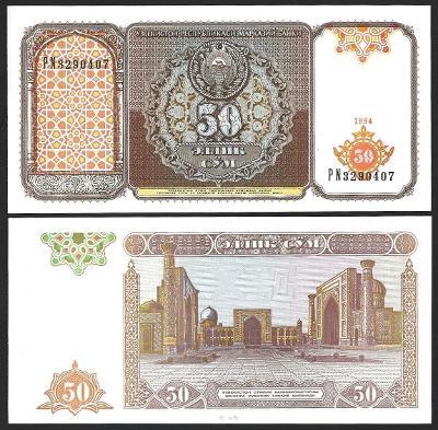 50 SUM 1994 UZBEKISTAN  UNC p78
