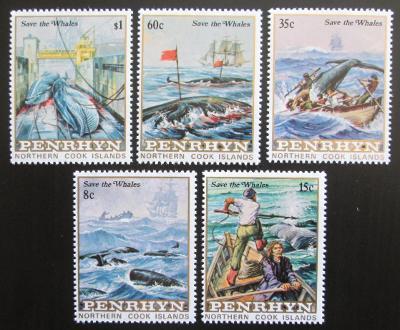 Penrhyn 1983 Ochrana velryb Mi# 310-14 Kat 18€ 0826