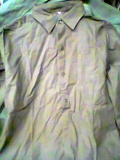 Vojenská košile starý vzor na KVH k jehličí a mlok  č 40 ne německá