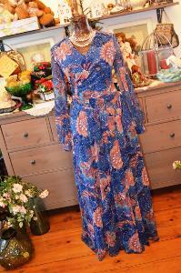!!! Luxusní vintage maxi šaty !!!