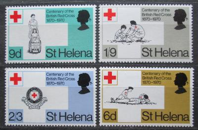 Svatá Helena 1970 Britský červený kříž, 100. výročí Mi# 223-26 0835