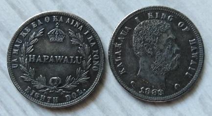 HAWAII USA 12.5 cents 1883 Kalakaua I kopie RR M-0486