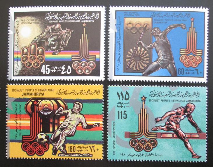 Libye 1979 LOH Moskva Mi# 767-70 I A 1565 - Filatelie