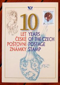 2002 ČR RPP1 - 10 let České poštovní známky /**