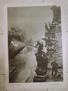 Školní plakát Pád Berlína 1945 , Sovětská armáda