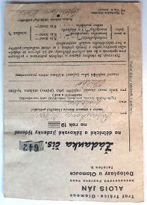 -- ŽÁDANKA NA JÍZDNÉ 1948 --