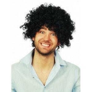 Afro paruka černá kudrnatá krátké vlasy 0017
