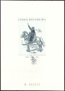 ČÍSLOVANÝ TISK JAN ŽIŽKA, SLEPOTISK SBĚRATEL 2002 (T7968)