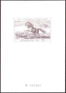 ČÍSLOVANÝ TISK JAN VAN DER STRAET - KŮŇ (T7972)