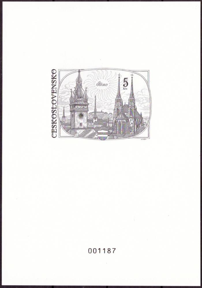 ČÍSLOVANÝ TISK 5 KČS BRNO (T7977) - Filatelie