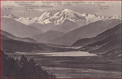 Val Venosta * mapa, jezero, hory, Südtirol, Alpy * Itálie * Z517