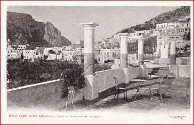 Capri (ostrov) * Villa Skansen, hotel, část města * Itálie * Z1401