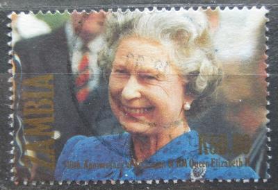Zambie 1992 Královna Alžběta II. Mi# 594 0869
