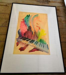 Obraz - akvarel na papíře/sig. Tomek... (8911)
