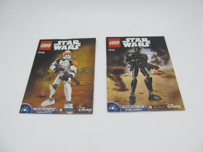 NÁVOD LEGO STAR WARS  STAVEBNICE lego 2 ks