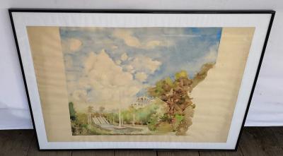 Obraz - akvarel na papíře/Labutí jezero... (8931)