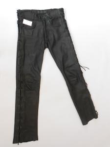 Kožené kalhoty šněrovací VANUCCI vel. 46- pas: 74 cm