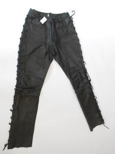 Kožené kalhoty šněrovací vel. 42- pas: 74 cm