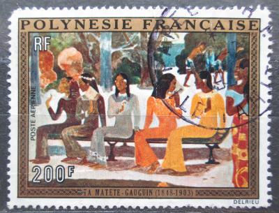 Francouzská Polynésie 1973 Umění, Gauguin poškozená Mi# 167 25€ 0872