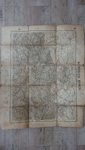 Starožitná mapa Severni Čechy -1900-Krkonoše-zaniklé obce