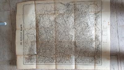 Starožitná mapa Vychodní Čechy -1908-Krkonoše-zaniklé obce