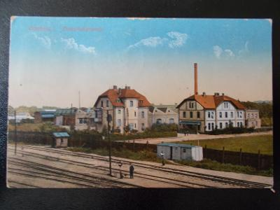 Karviná Starý Bohumín Oderberg zastávka trať koleje Chemická továrna