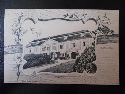 Zlín Kroměříž Koryčany sbírková koláž v rámečku zámek