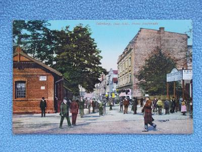 Karviná Starý Bohumín Oderberg ulice obchody živá lidé Franc Josef ul.