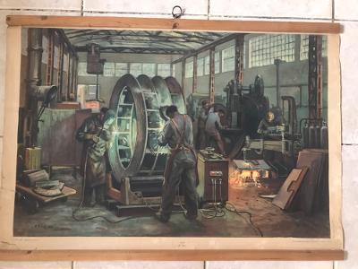 Školní plakát industrial Elektrické svařování
