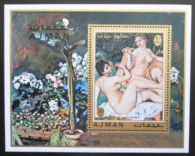 Adžmán 1971 Umění, akty, Renoir Mi# Block 278 Kat 6.50€ 1584
