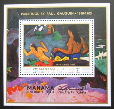 Manáma 1971 Umění, Paul Gauguin Mi# Block 169 A Kat 10€ 1584
