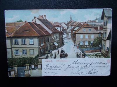 Česká Lípa Böhmisch Leipa Mostní ulice  živá lidé obchody