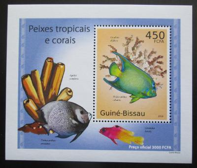 Guinea-Bissau 2010 Tropické ryby a korály DELUXE Mi# 5074 Block 1587