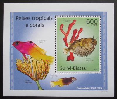 Guinea-Bissau 2010 Tropické ryby a korály DELUXE Mi# 5076 Block 1587