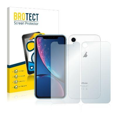 2x Matná ochranná fólie - Apple iPhone XR přední + zadní