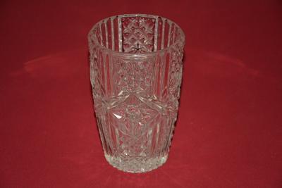 váza, masivní sklo, čirá