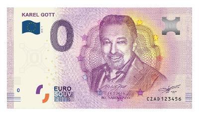 0 EURO BANKOVKA 2019  KAREL GOTT  dobrá ČÍSLA ! ! !