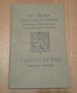 cestovní pas 14.3.1939 konzulát dráždany protektorát válka občanka