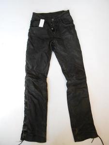 Kožené kalhoty šněrovací