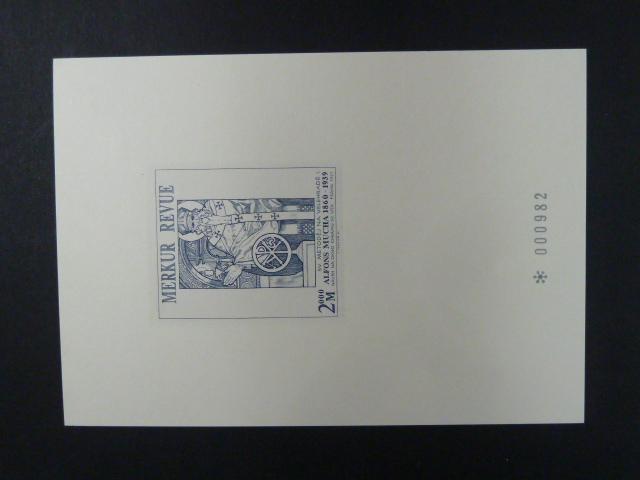 příl. tisk Merkur Revue 2000 - Mucha - číslovaný - Filatelie