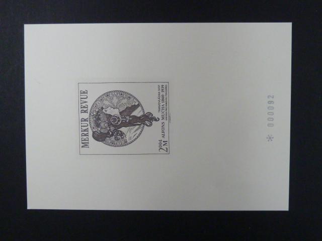 příl. tisk Merkur Revue 2004 - Mucha - číslovaný - Filatelie