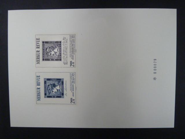 příl. tisk Merkur Revue 2008 - Axmann - číslovaný - Filatelie