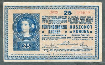 25 korun 1918 serie 3023