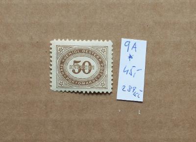 RAKOUSKO UHERSKO DOPLATNÍ PORTOMARKEN Mi p9A * KAT. 45 EURO (2)