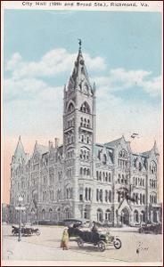 Richmond (Virginie) * City Hall, budova, auto * Amerika (USA) * Z2447