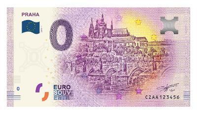 0  Euro bankovka - PRAHA -  PRAŽSKÝ HRAD  -  PRVNÍ ČESKÁ   !  !