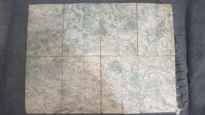 Vojenská mapa Litoměřice, Terezín, Roudnice, Štětí 1928 zaniklé obce