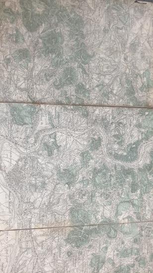 Vojenská mapa Litoměřice, Terezín, Roudnice, Štětí 1928 zaniklé obce - Antikvariát
